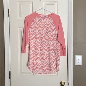 Pink and white chevron randy